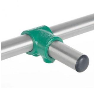 Connecteur de 2 tubes diam 26,9mm en T en acier trempe