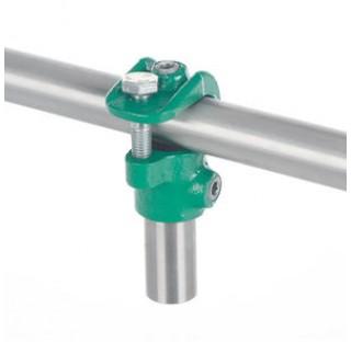 Connecteur de 2 tubes diam 26,9mm en acier trempe