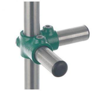 Connecteur de 3 tubes diam 26,9mm d'angle avec passage en acier trempe