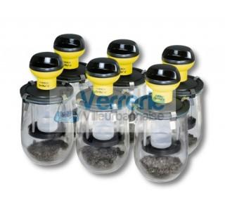 Kit pour respiration des sols (aerobie) avec 6 unites de mesure completes composees de 6etes OxiTop