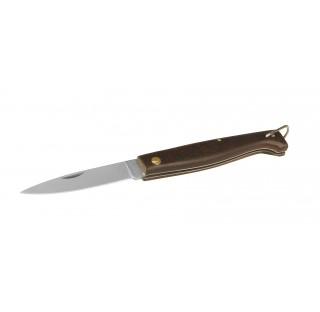 Couteau pliant inox long de lame 83 mm longueur totale 100mm manche en bois, couteau de laboratoire