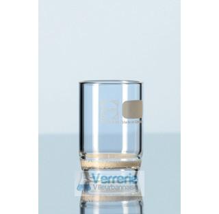 Creuset filtrant, 8 ml, POR. 2  . Duran Schott diametre exterieur 24 mm