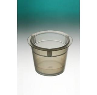 Cupule 6ml PEBD naturel hauteur 20 mm diametre 25mm, 75/pile, pour automate Dispo-Cup, ionise condit