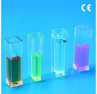 Cuve pour spectrophotometres en PS capacite 1.5ml longueur optique 10mm fenetre 4x31mm (pack de 100)