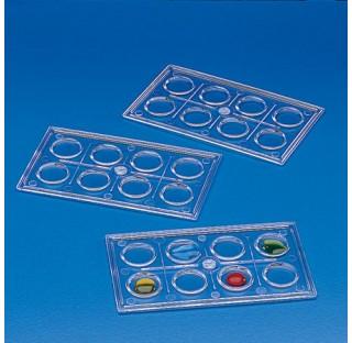 Cuvette a 8 cellules rondes PS Diam. De cellules 15mm Dim. 95x57mm plastique Kartell