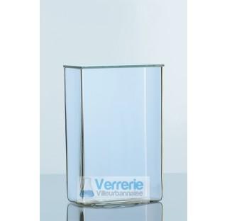 Cuves a preparations, avec couvercle plat en verre rode, longueur 60 mm largeur 50 mm hauteur 100 mm