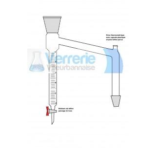 Dean stark 29/32 10 ml cle teflon avec prise thermometrique