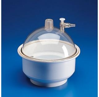 Dessiccateur plastique diam.200mm en polypropylene et polycarbonate Vide maintenu : 740mm/Hg pendant