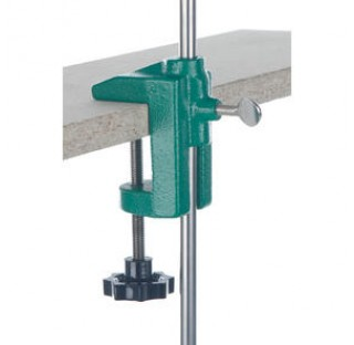 Etau de table pour tige statif diam 12/13mm pour table epaisseur maxi 55mm