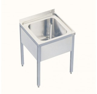 Table evier inox 500x600mm hauteur 660mm evier 400x400x200mm ecoulement 1 1/2 evier de laboratoire