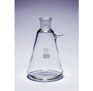 Fiole a vide 500 ml rodage 24/29 olive en verre diametre du corps 105 mm hauteur 172 mm