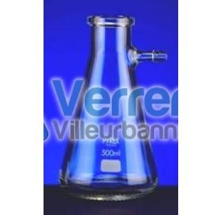 Fiole a vide 500 ml olive en verre Pyrex Dim: Diam de la bas 105 mm Diam int du col 34 mm Haut. 185m