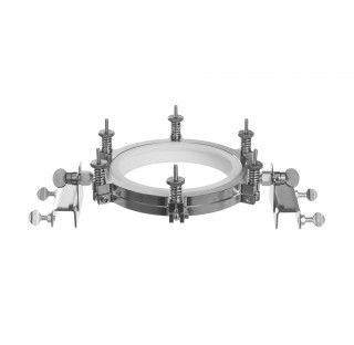 Fixateur pour bride Schott DN 60 pour barre diam 26,9mm en inox et joint PTFE pour positionnement su