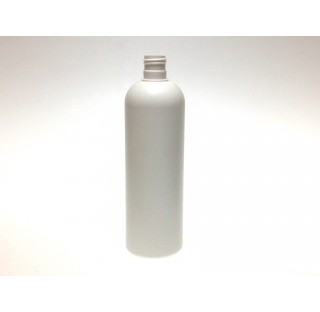 Flacon 500 ml PEDH blanc bague 24/415, tall boston round