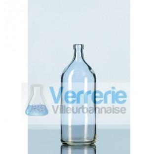 Flacon a bord a bague en verre, sans fermeture, 100 ml  . Duran Schott