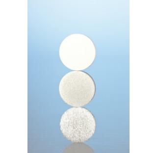 Plaque filtrante Diam. 10 mm porosite 0 Fritte DURAN bord non rebrule et centre, surfaces brutes,