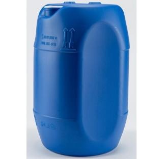 fut OP en PEHD bleu 30 litres, cylindrique, ouverture partielle, colisage de 60 futs.,homologue liqu
