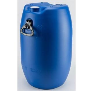 fut OP en PEHD bleu 60 litres, cylindrique, ouverture partielle, colisage de 36 futs.,homologue liqu