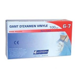 Gant flexinyl sans latex taille 6/7 sans poudre longueur 240 mm