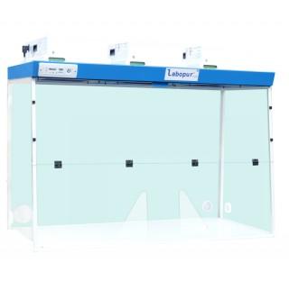 Hotte a filtration H15 a 3 Modeles de filtration a Passage a mains, dimensions exterieures (LxPxH) 1