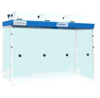 Hotte a filtration H15 a 3 Modeles de filtration a Passage Grande largeur, dimensions exterieures (L