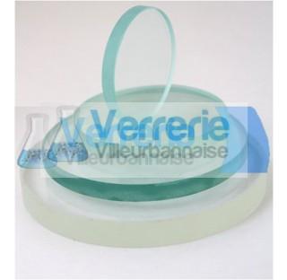 Hublot pyrex diametre 260 mm ep 25 mm, verre borosilicate transparentPROMOTION JUSQU'A EPUISEMEN