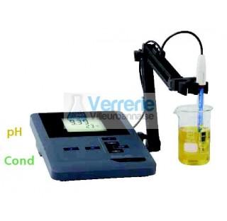 pH-mV-metre de paillasse (DIN) facile d'utilisation pour des mesures de routine. Alimentation sur pi