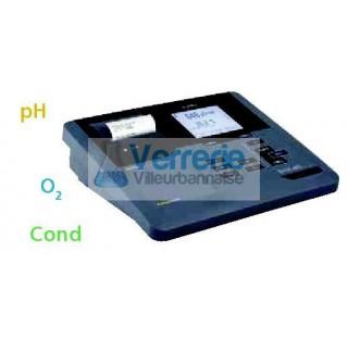 pH-mV-metre de paillasse (BNC) ergonomique et facile d'utilisation grace a son menu interactif pour