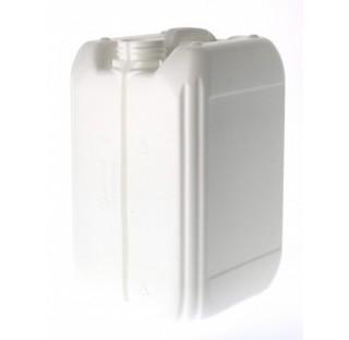 Jerrican en plastique PEHD de 10 litres gerbable, 420gr ONU serie 90 blanc, col central filetage 51/