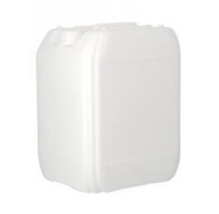 Jerrican en plastique PEHD de 10 litres gerbable, 450gr ONU serie 90 translucide, col central fileta