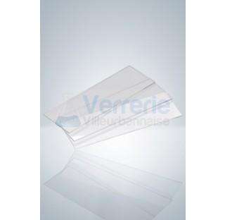 Lames porte - objet verre 76x26 mm pack de 1000 pieces bors rodes 90 degre epaisseur 0,95 - 1,05mm