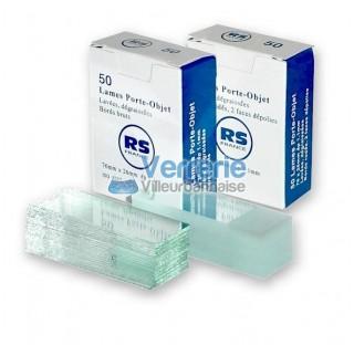 Lamelles couvre objet 16x16mm verre clair prenettoyees epaisseur 0,15mm boite de 100