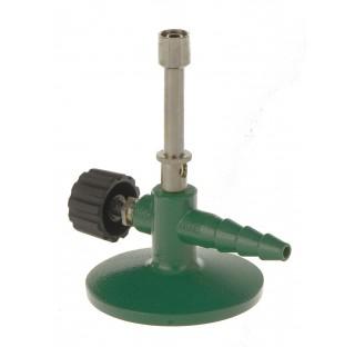 Micro bec Bunsen au propane 60mBar 180g/h diam de base 80mm hauteur 90mm avec valve 1000 degre tubul