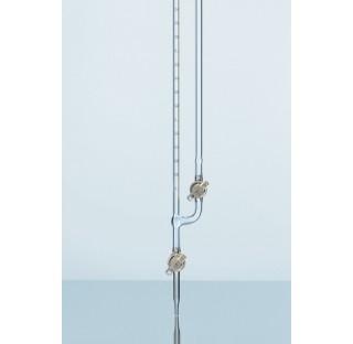 Microburette DURAN, avec robinet droit, classe AS, 1 ml