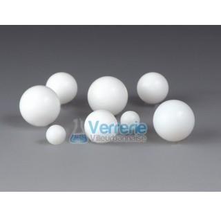 Balle/boule en PTFE Diam 3 mm pack de 100 boules temp. Max. de -200 a +250 degre