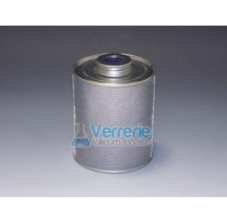 Cylindre en aluminium avec du gel de silice encapsulee, la saturation est affiche sur la face superi