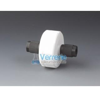 Filtre PTFE pour membrane diam 25mm surface de filtration 3,1 cm2 avec connections GL14 pour tuyau d