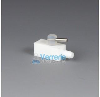 Robinet PTFE de connexion pour HPLC (chromatographie) pour tuyau diam 1,6x4mm une connection pas de