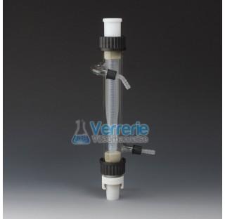 Condenseur vertical en PTFE / verre longueur 300mm avec 2 rodage 29/32 Temp max de -200 a + 250 degr