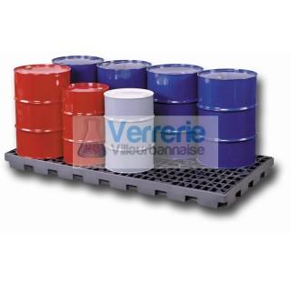 Plancher de retention pour a futs en polyethylene haute densite (caillebotis amovible)  dimensions e