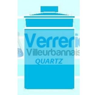 Nacelle de pesee en quartz forme haute volume : 100 ml haute temperature verre silice incineration d