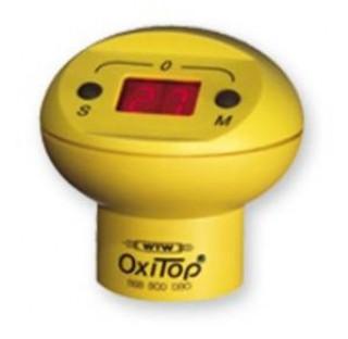 1 tete de mesure OxiTop (jaune) a 2 touches (M pour mesure en cours, S pour mesures memorisees,  max