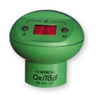 1 tete de mesure OxiTop (verte) a 2 touches (M pour mesure en cours, S pour mesures memorisees,  max