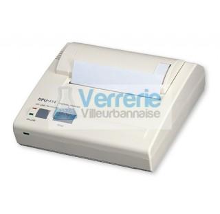 Imprimante thermique matricielle, fonctionnant sur secteur et accumulateurs, largeur de papier 112m,
