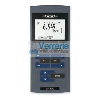 pH/mV-metre WTW professionnel de terrain equipe d'un ecran graphique retro-eclaire, pour des applica