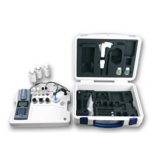 Photometre dans une mallette,cuves, et Pipette KK/VAR5000 avec cone, adjustable, 5 ml. Accessoires: