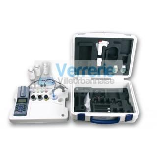 Photometre WTW avec pH integre dans une mallette, statif et cuves, pH Electrode WTW SenTix 41t Pipet