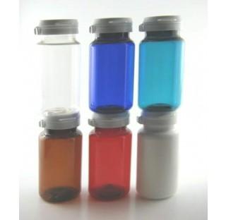 Pilulier 150 ml en PET blanc, inviolable bague HANDYCAP
