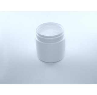 Pilulier 100 ml en PEHD blanc, inviolable bague P60