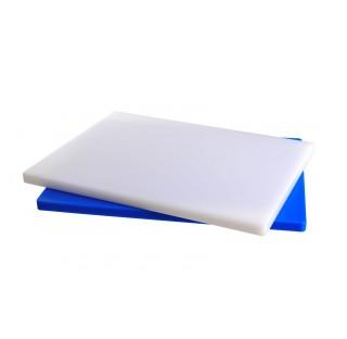 Planche a decouper en PE bleue 610x460 ep 25 mm90 degre maximum , compatible avec le lave vaisselle